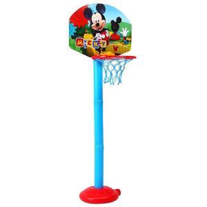 ディズニー バスケットゴールセットボール2個つき ミッキーマウス 高さ調節可能 ゲーム おもちゃ プレゼント 誕生日