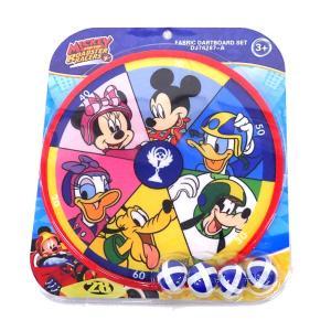 ミッキー ファブリックダーツボードセット ボール4個つき 的あてゲーム マジックテープ ダーツゲーム|mimiy