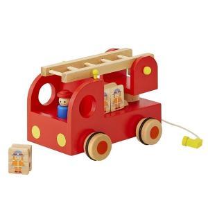 エドインター カタカタ 森の消防隊 木製玩具 木のおもちゃ|mimiy