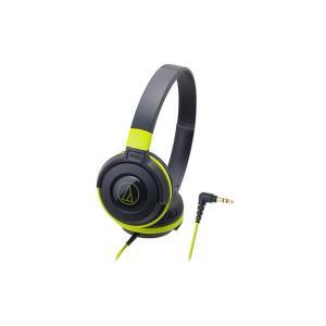 audio-technica オーディオテクニカ ポータブルヘッドホン ATH-S100 BGR(ブラックグリーン)|mimiy