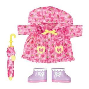メルちゃん きせかえセット ピンクのレインコートセット|mimiy