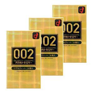 オカモト ゼロツー 0.02ミリ リアルフィット 6個入り コンドーム 男性用避妊具 ×3個セット|minacolor2