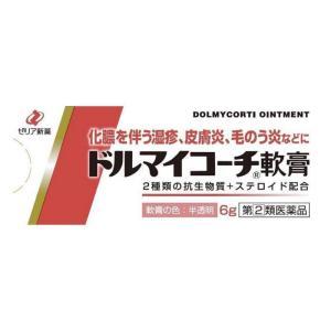 ドルマイコーチ軟膏 6g 化膿 虫刺され 皮膚炎 (指定第2類医薬品)|minacolor
