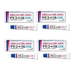 テラ・コートリル軟膏a 6g ×4個セット 処方薬と同じ成分 とびひ 面疔に (指定第2類医薬品) ...