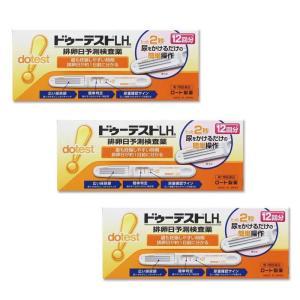 ドゥーテストLHa排卵日予測検査薬 12本 ×3個セット 排卵日チェッカー 妊活に (第1類医薬品) ロート製薬|minacolor
