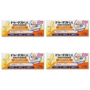 ドゥーテストLHa排卵日予測検査薬 12本 ×4個セット 妊活 検査薬(第1類医薬品) ロート製薬|minacolor