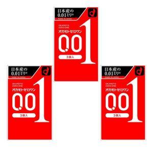オカモトゼロワン0.01ミリ3個入り コンドーム ×3個セット|minacolor