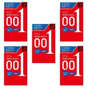 オカモトゼロワン たっぷりゼリー 3個入り コンドーム ×5個セット|minacolor