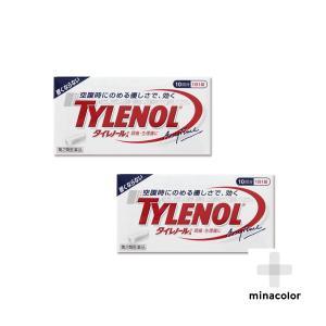 タイレノールA 10錠 処方薬カロナールと同成分配合 解熱鎮痛薬 (第2類医薬品)×2個セット|minacolor