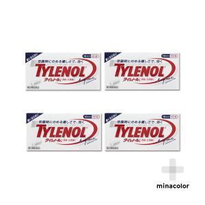 タイレノールA 10錠 処方薬カロナールと同成分配合 解熱鎮痛薬 (第2類医薬品)×4個セット|minacolor