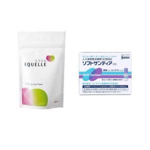 更年期 疲れ目セット エクエルパウチ・(第3類医薬品)ソフトサンティア|minacolor