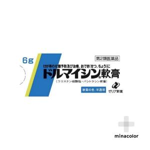 ドルマイシン軟膏 6g 外傷 やけどの化膿治療に (第2類医薬品)