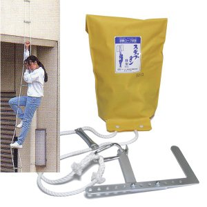 ステップダンII型 2F用 可変フック付 【避難はしご型ロープ/避難器具】|minakami119