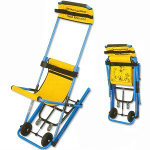 階段避難車(イーバックチェア) 専用スタンド付 MK4-JP 【避難・搬送用具】|minakami119
