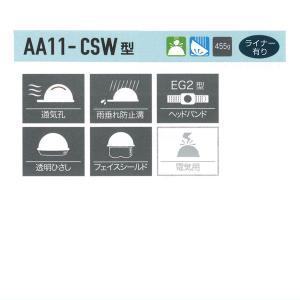 AA11EVO-CSW型ヘルメット大型通気孔 大型内蔵式シールド付 【 防災 工事用 ヘルメット 】 minakami119 02