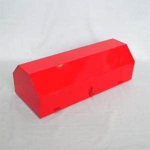 車両用格納箱 (消火器ステッカー付) 粉10型用 スチール製 サイズ:195×615×260 【消火器BOX】|minakami119