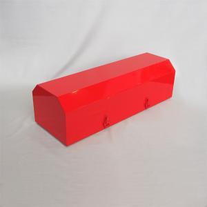 車両用格納箱 (消火器ステッカー付) 粉20型用 スチール製 サイズ:205×700×250 【消火器BOX】 minakami119