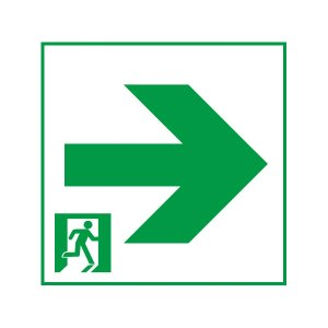 FK20067 通路用誘導灯表示板 「□→」 パナソニック製 誘導灯パネルプレート|minakami119