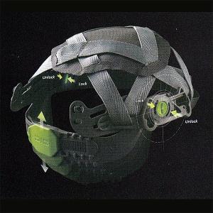 AA11EVO型 工事用ヘルメット HA6内装 耳・アゴヒモ付 【 防災 工事 ヘルメット 】|minakami119