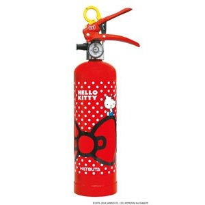 ハローキティー消火器 蓄圧式 強化液 1L 色:赤リサイクルシール付 初田製作所製【消火器】|minakami119