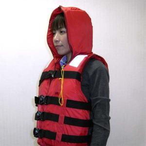 ライフジャケット 防災用  バックルタイプ (防災頭巾付救命胴衣)|minakami119