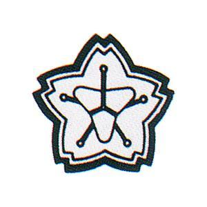「消防団マーク」ステッカー 材質:反射シート製 サイズ:50mmФ 10枚1組【防災用品/標識・シール】|minakami119