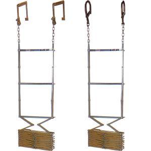 オリロー6型 金属製折りたたみ式避難はしご 全長約6m【避難器具/避難はしご/梯子】|minakami119