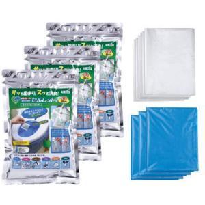 非常用トイレ セルレット 108回分セット 袋付 S-108F【簡易トイレ】 minakami119