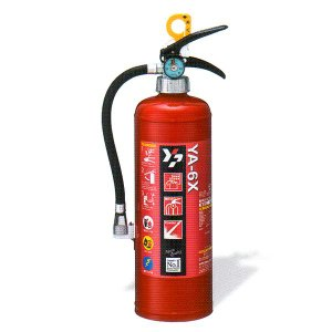 蓄圧式 粉末消火器 6型 2kg リサイクルシール付 ヤマトプロテック製 【消火器】|minakami119