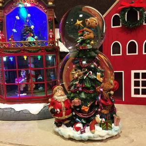 クリスマススノードーム オルゴール付  ーーーサイズーーー 高さ:約20.5cm 横幅:約11.5c...