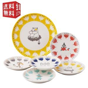 MOOMIN (ムーミン) 「 クッカ 」 ベリー プレート 皿 6点セット (化粧箱入)