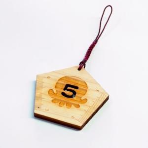 オクトパス君「5を書く定規」 (南三陸ゆるキャラ/置くとパスで合格祈願/ネコポスOK)