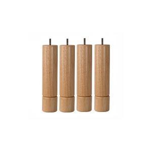 脚付きマットレスベッド用木脚 26cmナチュラル4本セット(1台分)|minamoto-bed