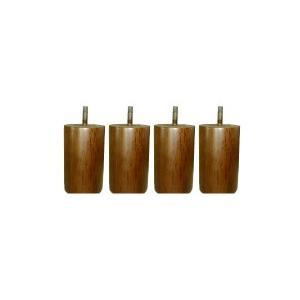 脚付きマット用木脚10cmブラウン4本セット(1台分)(type2_10cm_br 7081054)|minamoto-bed