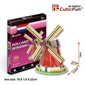 ミニ3Dパズル オランダの風車 S3005H 組み立てキット  ハートアートモデル|minato-m