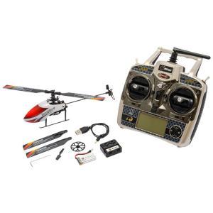 V966 ホワイト/レッド ハイテックマルチプレックス WLtoy WLV966 2.4GHz 4ch ヘリコプター 完成品フルセット|minato-m