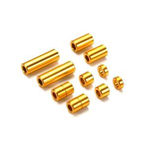 アルミスペーサーセット(12/6.7/6/3/1.5mm各2個)(ゴールド) ミニ四駆特別企画 タミヤ 95442|minato-m