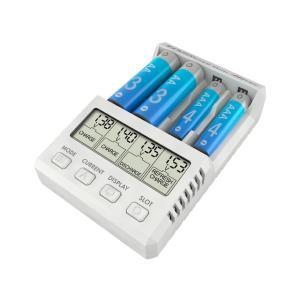 単三・単四Ni-cd、Ni-MH充電池 充・放電器[ AA/AAA チャージャー X4 アドバンス ミニ ] ハイテック 44292 ホワイト minato-m