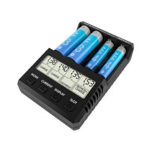 単三・単四Ni-cd、Ni-MH充電池 充・放電器[ AA/AAA チャージャー X4 アドバンス ミニ ] ハイテック 44293 ブラック minato-m
