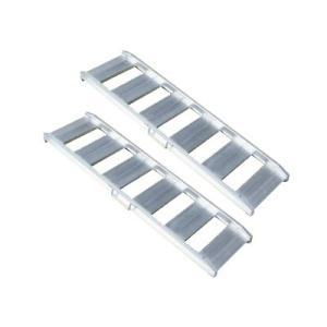 アルミス あぜこし用アルミブリッジ ABS-120-30-1.0 2本セット (120cm/幅30cm/荷重1t) [アルミ製 道板 ラダーレール スロープ]|minatodenki