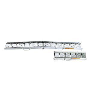 昭和ブリッジ アルミブリッジ 2本組セット BAW-240-25-0.5 (240cm/幅25cm/荷重0.5t/折りたたみ式)|minatodenki
