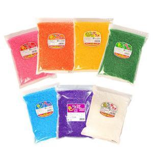 綿菓子用 色付きザラメ 色いろザラメ 1袋×1kg入 (赤・黄・緑・白・青・オレンジ・紫からお選び下...