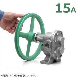 ギヤーエス工業 ステンレス製ギヤーポンプ DNGU-1型 (口径15A) 《7インチA1プーリー付き仕様》 [ギヤポンプ 灯油 軽油 A重油 廃油]|minatodenki