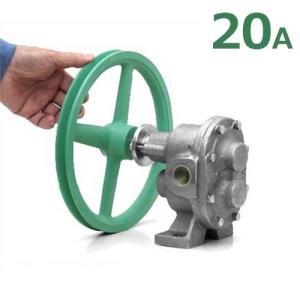ギヤーエス工業 ステンレス製ギヤーポンプ DNGU-1型 (口径20A) 《9インチA1プーリー付き仕様》 [ギヤポンプ 灯油 軽油 A重油 廃油]|minatodenki