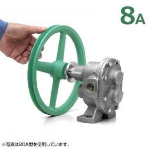ギヤーエス工業 ステンレス製ギヤーポンプ DNGU-1型 (口径8A) 《7インチA1プーリー付き仕様》 [ギヤポンプ 灯油 軽油 A重油 廃油]|minatodenki