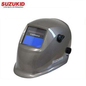 スズキッド 液晶式自動遮光溶接面 アイボーグ・アルファ2 EB-200A2 (TIG溶接対応) [スター電器 SUZUKID 溶接用 遮光面 溶接機]|minatodenki