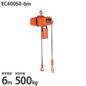 ニッチ 懸垂式 電気チェーンブロック EC40050-6m (標準揚程6m/三相200V/定格荷重500kg/2点押ボタン式)|minatodenki
