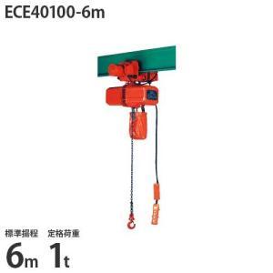 ニッチ 電動横行式 電気チェーンブロック(電動クレーン用) 4点押ボタン式 三相200V ECE40100-6m (1t/標準揚程6m/操作電圧24V)|minatodenki