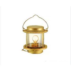 ニッセン マリンランプ 白灯 (電気式/真鍮板製) [ランタン]|minatodenki