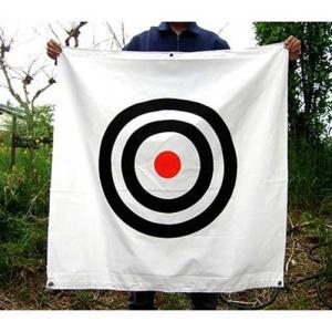 ゴルフネット用標的(エステル 約90×90・ロープ付)|minatodenki